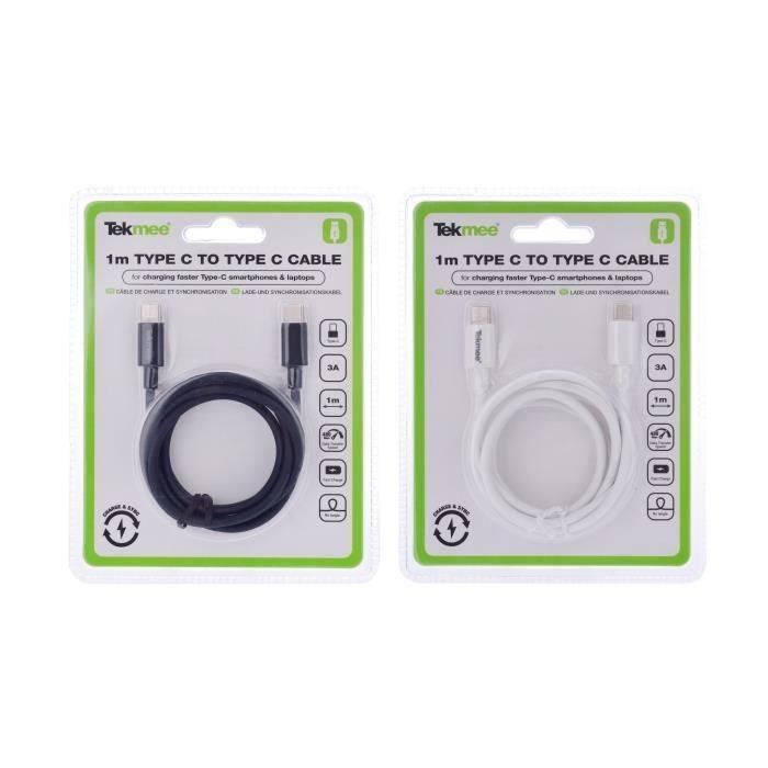 CÂBLE USB - TYPE C - 3A - 1m - TEKMEE